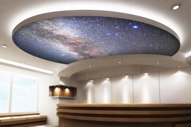 Wizualizacja sufitu napinanego podświetlenego LED