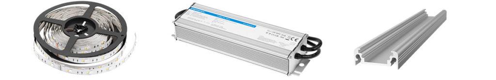 Sufity napinane podświetlane LED. Co jest potrzebne do wykonania sufitu napinanego: taśmy led, zasilacze do led, profile do led