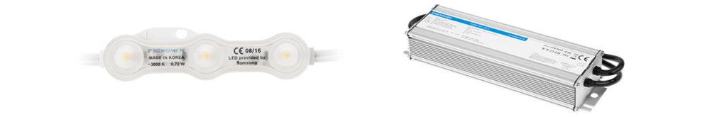 Podświetlany LED sufit napinany.  Zestaw do wykonania: moduły LED, zasilacz do LED.